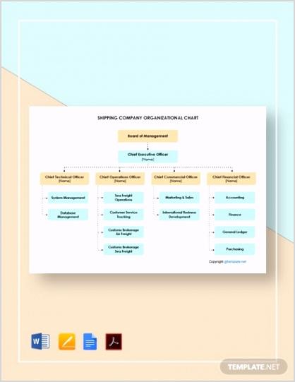 Shipping pany Organizational Chart 2