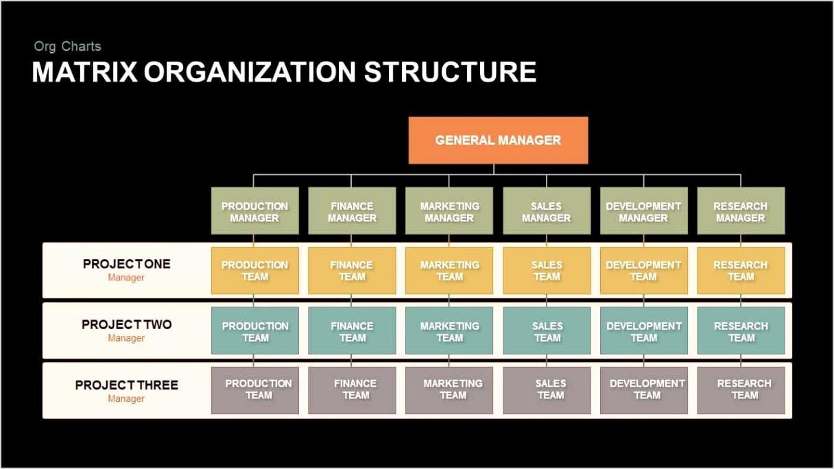 Matrix Organization Structure Powerpointe