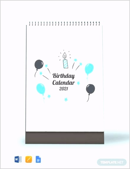 FREE 15 Birthday Calendar Templates in Google Docs