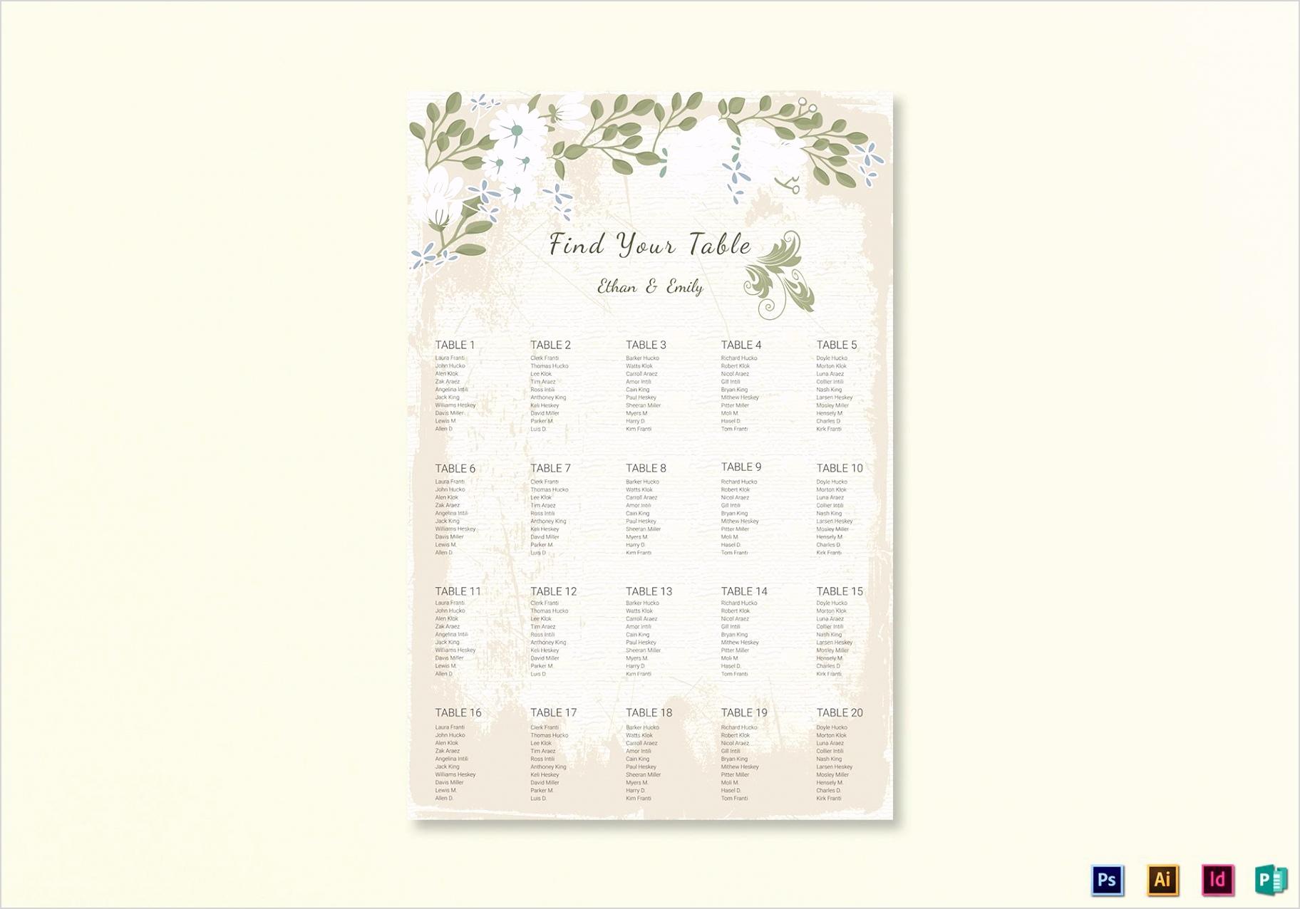 Wedding Seating chart 1
