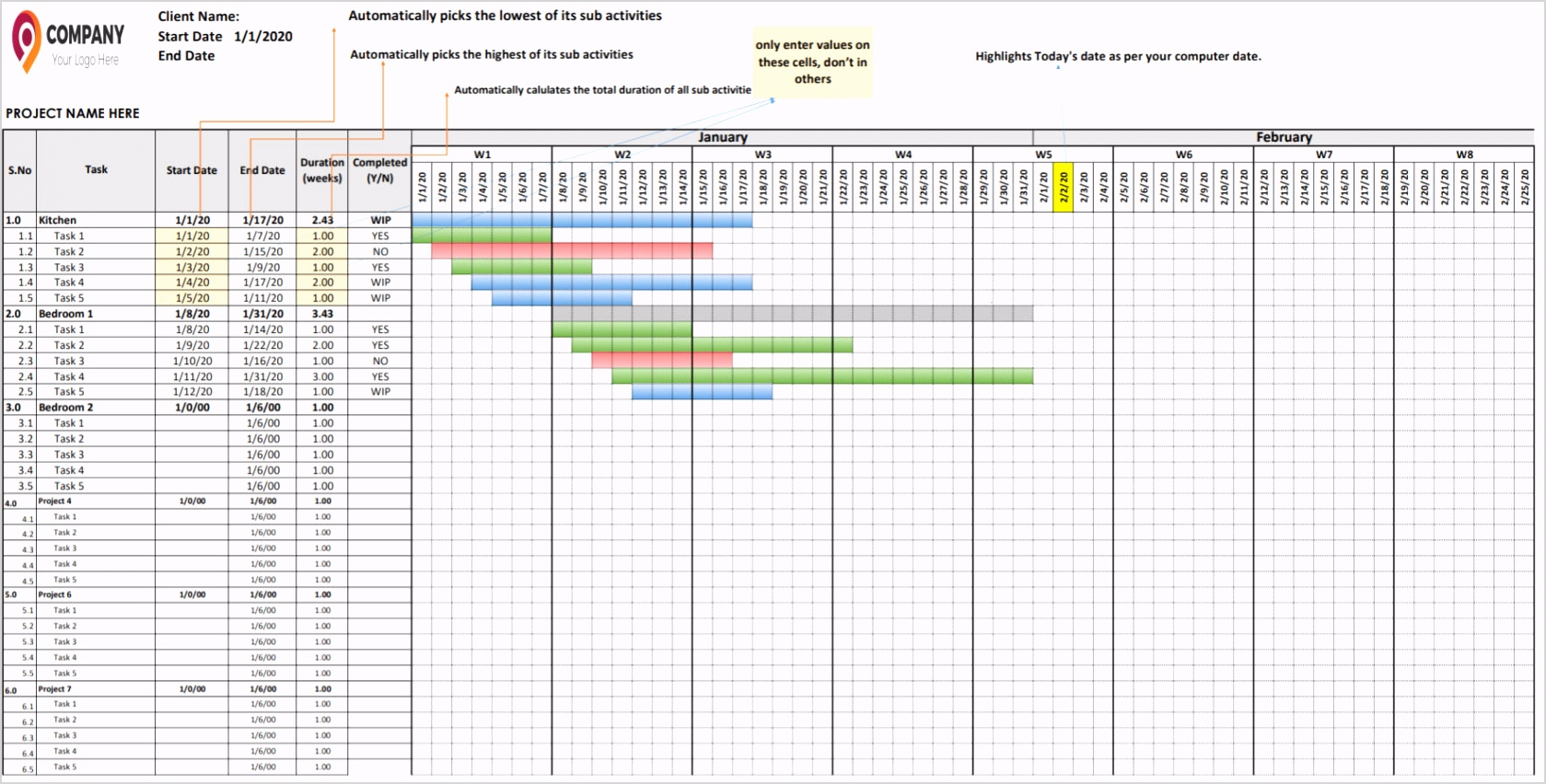 share template for quick excel schedule