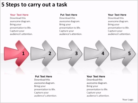 5 steps to carry out task business process flow chart examples powerpoint templates 1