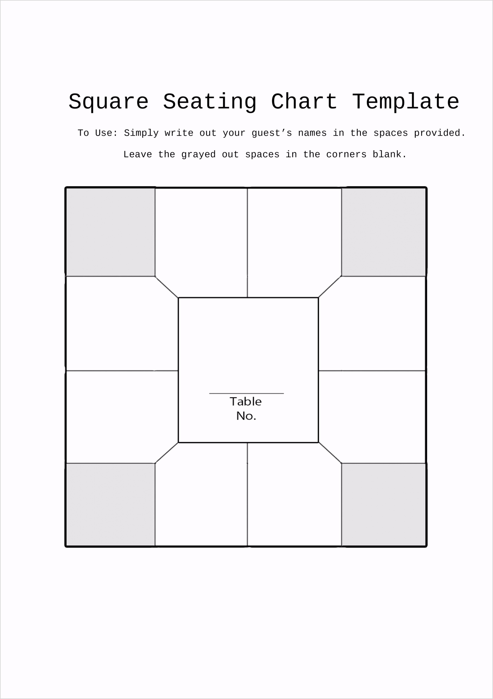 seating chart template 22