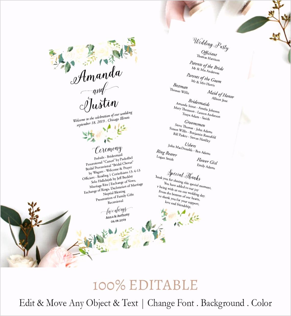 wedding ceremony program printable f6 5c567a5f