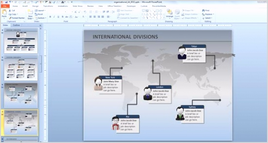 PowerPoint Presentations Animated Org Chart PowerPoint Templates 1
