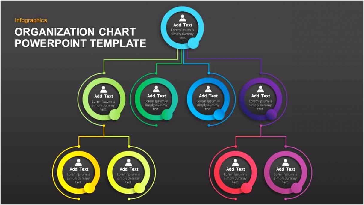 Simple Organizational Chart PowerPoint Template
