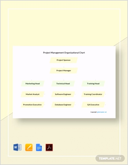 FREE Simple Project Management Organizational Chart Template