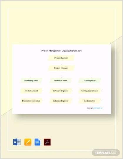 Simple Project Management Organizational Chart 2