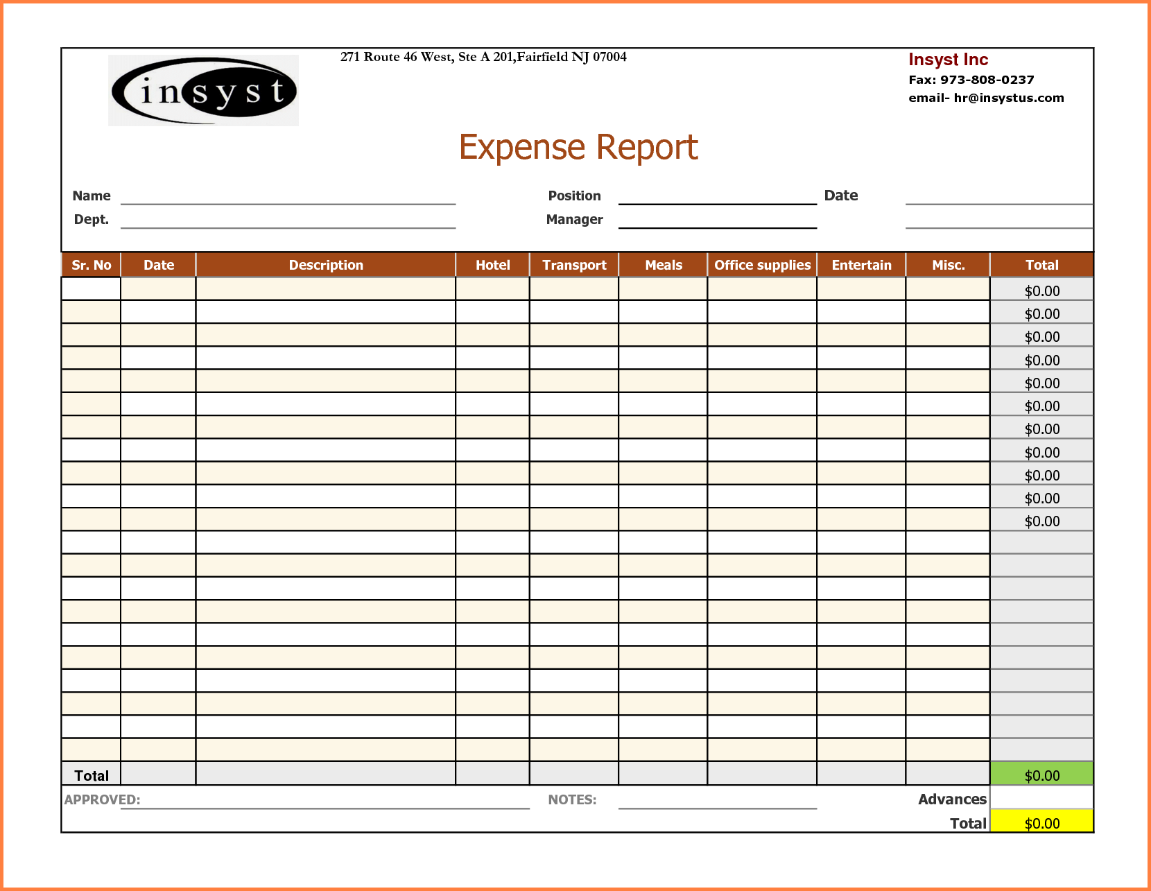 6+ expense report spreadsheet template | Excel ...