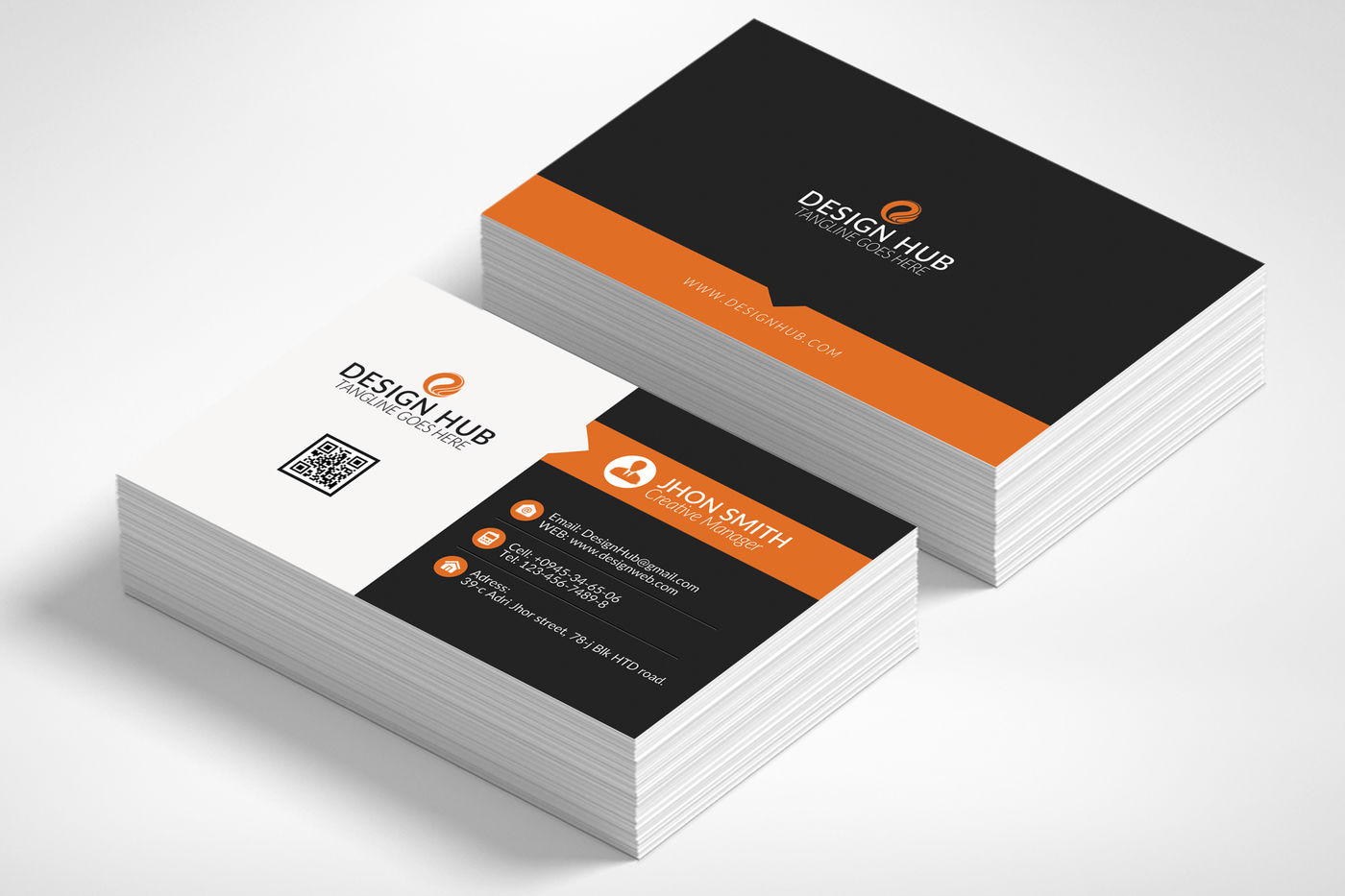 Professional Business Card Template By Designhub ...