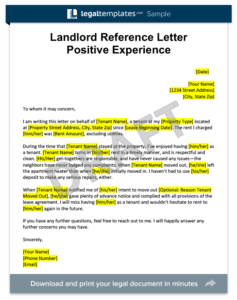 Free Landlord Reference Letter Templates 7 Simple Writing Tips