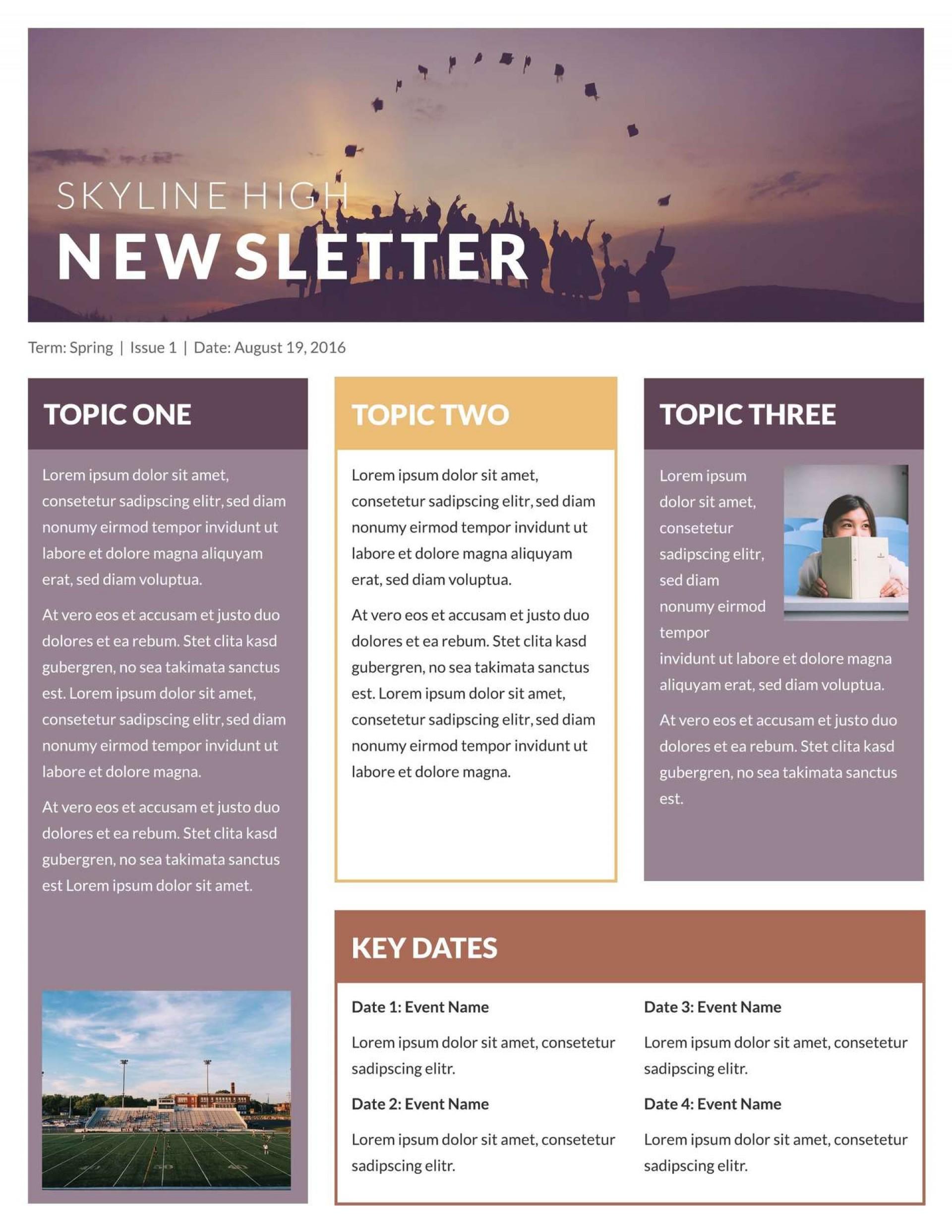 Free Microsoft Word Newsletter Templates Addictionary