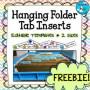 Hanging Folder Label Template